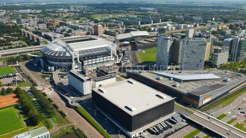 Vue aérienne du Ziggo Dome Amsterdam - Cor Harteloh Photography